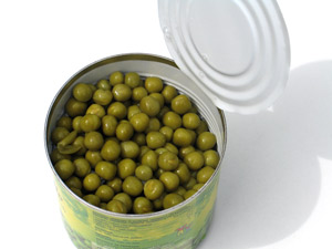 Canned peas from a Dash of Science.com
