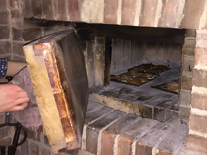 gingerbread cookies in the old brick oven