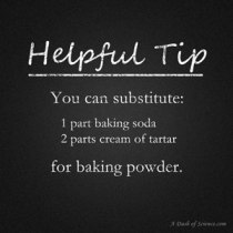 baking powder substitute from A Dash of Science.com