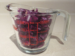 diced cabbage on A Dash of Science.com